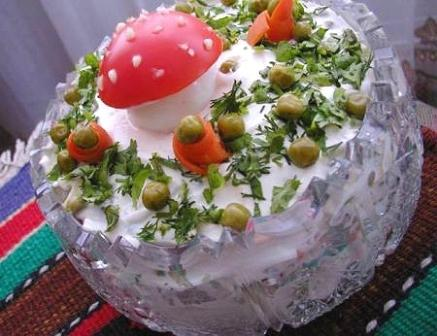 рецепты салатов и как их оформить